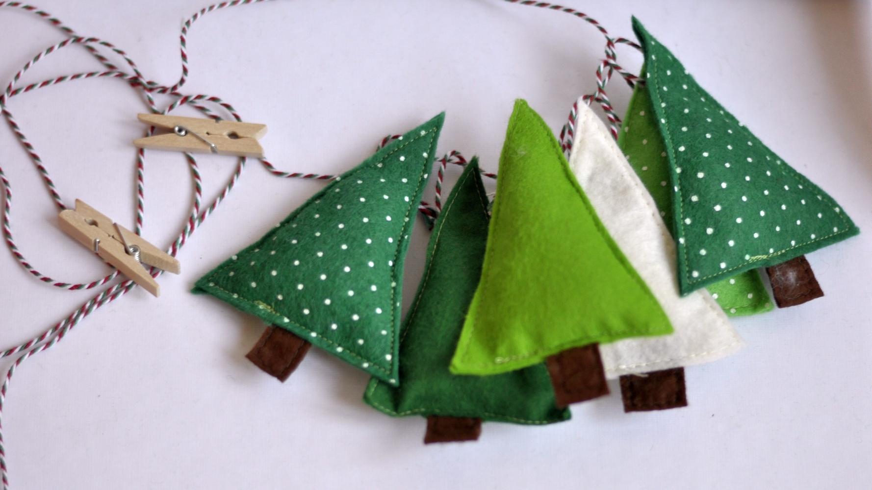 Moja šuma - set za izradu ukrasa od filca. Napravi sam, šivanje, ručno šivanje.