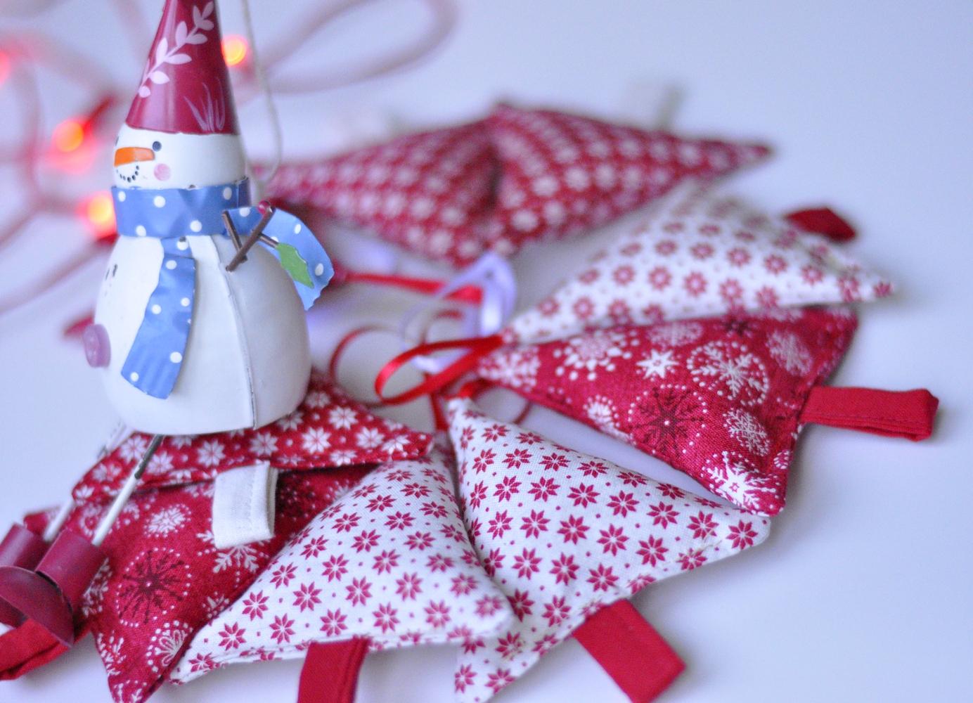 Ukrasi za božić od tkanina