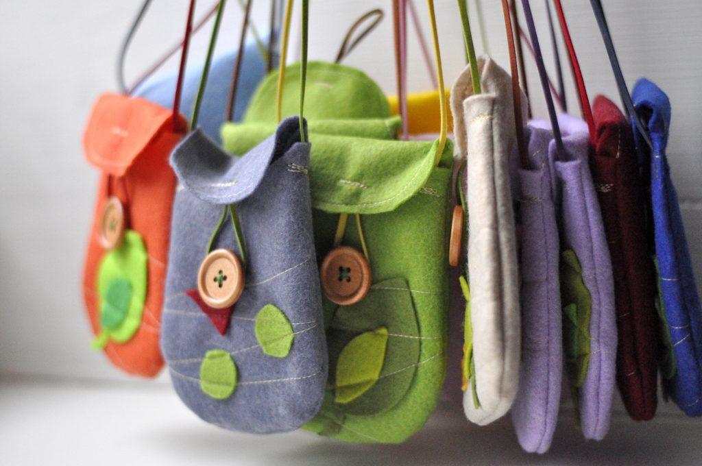 torbica od filca - 100 bofora, šivanje