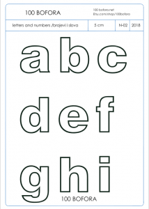 PDF template - numbers and letters