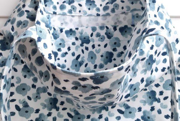 Plava torba za plac - cvjetni uzorak 100 bofora